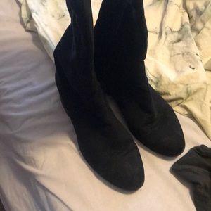 Women's  Thigh high boots black 7